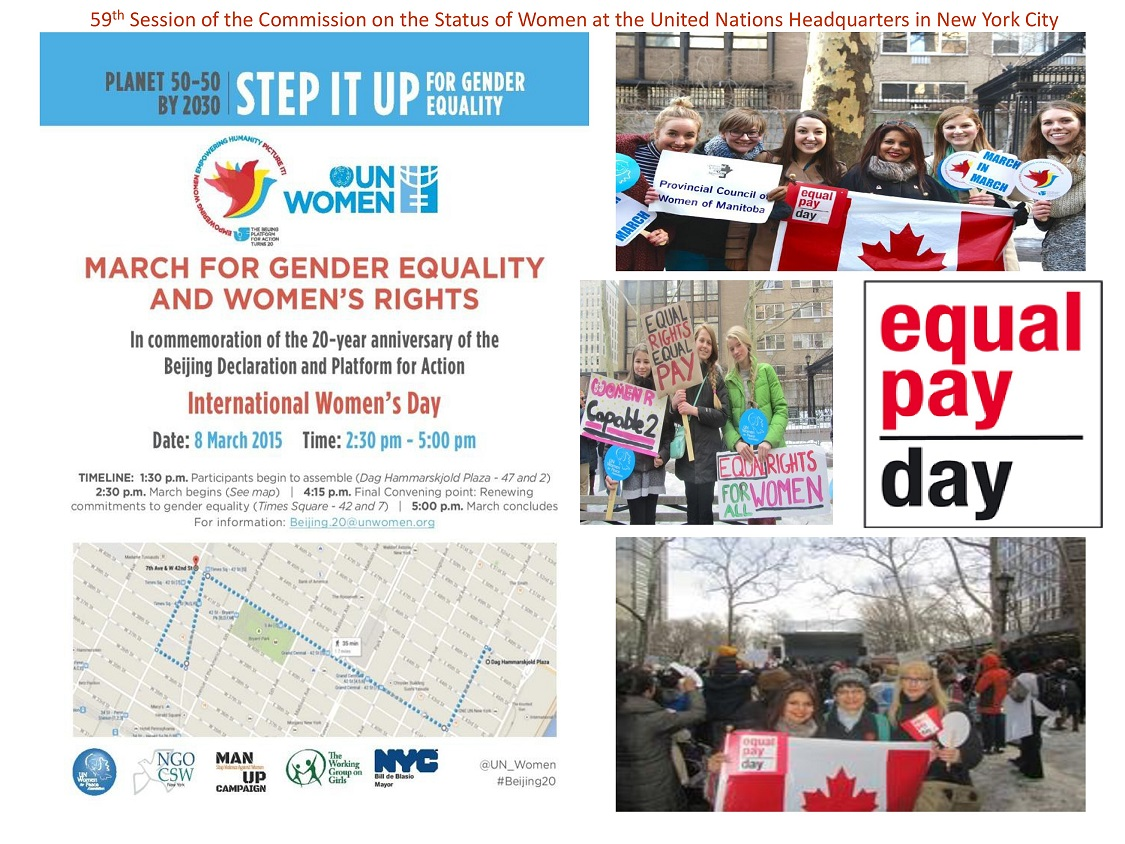 UN IWD March During CSW59 2015