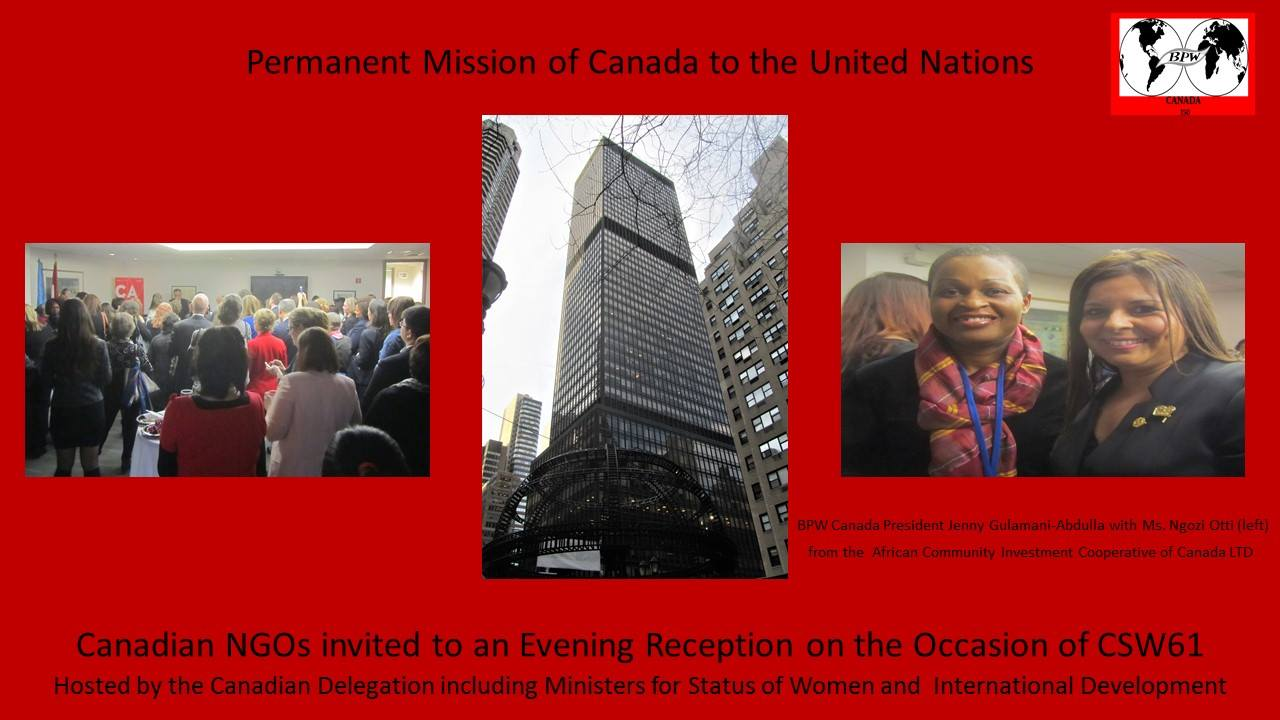 NGO CSW Reception 2017