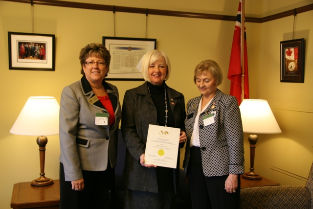 MP Joy Smith Commendation for Human Trafficking 2