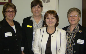 Joan Macklin, Irene Mathyssen, Sue Calhoun and Fran Donaldson
